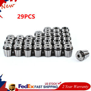 29pcs Er40 Spring Collet Set For Cnc Milling Lathe Engraving Machine 1 8 1 New