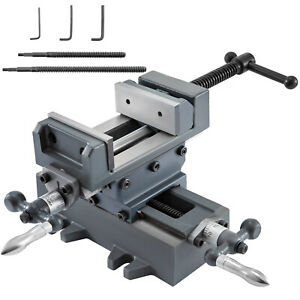 3 Compound Cross Slide Vise Strength Benchtop Anti rust 2 Screw Rods Smooth