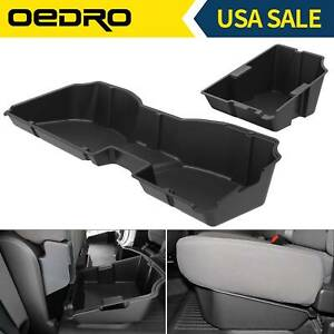 Oedro Underseat Storage Box For 14 18 Chevy Silverado gmc Sierra 1500 Crew Cab