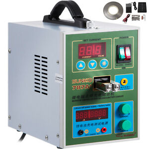 787a Pulse Spot Welder For 18650 Battery Pack Charger W 1kg Nickel Strip 500a