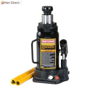 12 Ton Hydraulic Bottle Jack Ultra Stable W Pressure Relief Valve Grooved Saddle