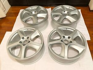 Oem Porsche Cayenne Turbo S Techno 20 Wheels Rims Set 9jx20