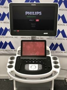 Philips Epic 7c Premier Ultrasound System Machine with S5 1 Cardiac Transducer