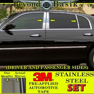 1998 2009 2010 2011 Lincoln Town Car Pillar Posts 6pc Chrome Stainless Steel