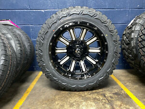 20x10 Fuel Hardline 33 Mt Wheels Rims Tires Package 8x170 Ford Super Duty F250