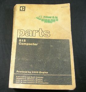 Caterpillar 815 Compactor Dozer Parts Manual Book Catalog 91p1102 Last Built Cat