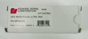 Federal Signal Mps300u r Micropulse Series A Red 3 led Warning Light