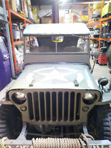 Canvas Soft Top Canopy For Willys Mb Or Ford Gpw Jeep Military Replica