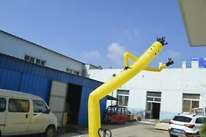 Yellow 20ft Air Inflatable Dancing Wind Dancer Dancing Sky Puppet With Blower