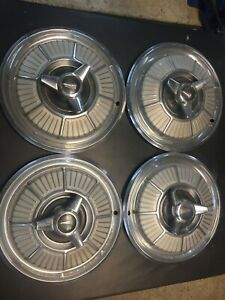 1965 Plymouth Sport Fury 14 Hubcaps Used Set Of 4