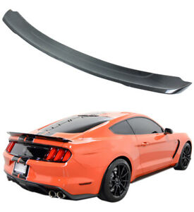Track Pack Style Carbon Fiber Rear Trunk Spoiler Wing 2015 2017 Ford Mustang