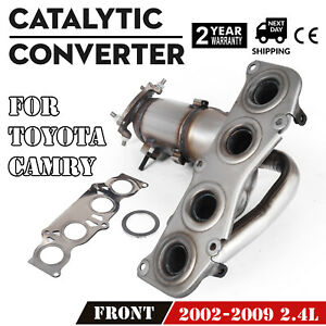 Catalytic Converter Front 2002 2005 2006 2007 2008 2009 Fit Toyota Camry 2 4l