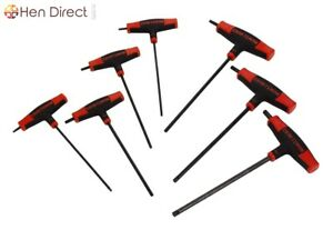 7 Piece T through Handle Torx Hex Key Set W comfortable Strong Grip 2 Torx Ends