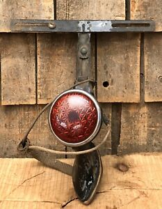 Vintage Early Original Ford Auto Car Truck Tail Light Duolamp With Bracket