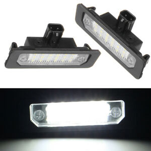 2 Led Rear Number License Plate Light Fits For Ford Mustang Focus Fusion Lincoln