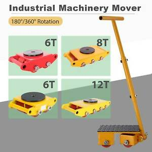 Industrial Machinery Mover Dolly Skate Cast Steel Roller 180 360 6ton 8ton 12t