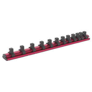 Sealey Ak27083 Socket Retaining Rail Magnetic 3 8in Sq Drive 12 Clips