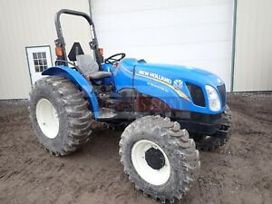 2016 New Holland Workmaster 50 Tractor 4x4 540 Pto 1 Remote 513 Hours 53 Hp