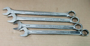 Matco Tools 4pc Metric Combination Wrench Set Lot 15mm 16mm 17mm 18mm 12 Pt Uesd