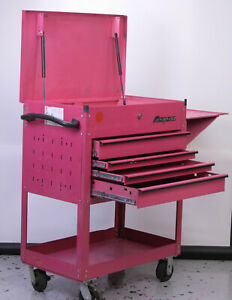 Snap On Special Edition Pink 4 Drawers Roll Cart 32 X 20 X 43 H Compare Krsc33