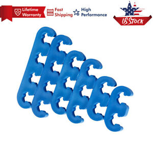 7mm 8mm Plastic Spark Plug Wire Separators Dividers Looms For Chevy Ford Blue Us
