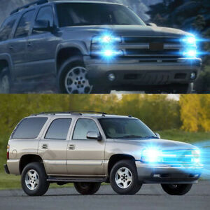 For Chevy Chevrolet Tahoe 2000 2006 4pc 8000k Led Headlight Light Bulb Update