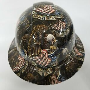 New Full Brim Hard Hat Custom Hydro Dipped American Flag We The People Usa Flag