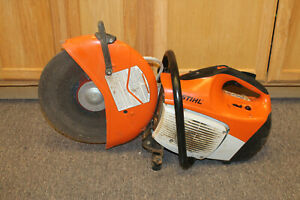 Stihl Ts420 14 Gas Powered Concrete Cut off Saw Pre owned Free Shipping