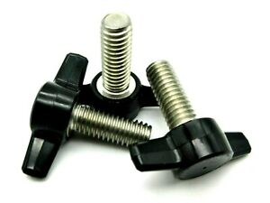 3 8 Thumb Screws W Wing Knob For Power Converter Cables Red Black Ss