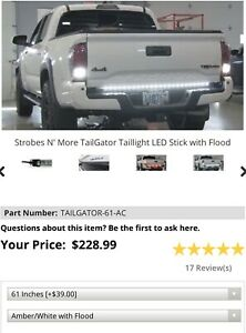 Strobes N More 61 Amber White Led Tailgator Lightbar