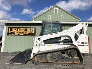 2011 Bobcat T870 Track Skid Steer Loader Heat Ac 2 Speed Low Cost Shipping