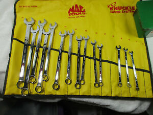 Mac Tools 14 Pc Short Mm Wrench Set 6 19mm Metric Knuckle Saver Sml14k Sml14kks