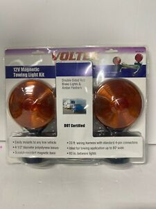 Magnetic Towing Tow Light Kit 12v Trailer Rv Tow Dolly Tail Towed Truck Car Boat