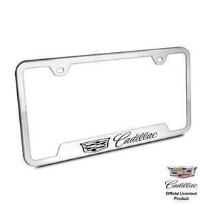 Au tomotive Gold Plate Frame For Cadillac New Logo Stainless Steel Chrome
