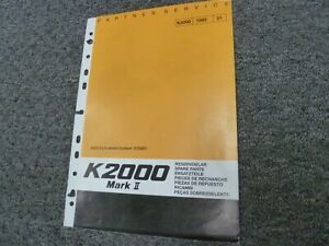 Partner K2000 Mark Ii Electric Cut off Concrete Street Saw Parts Catalog Manual
