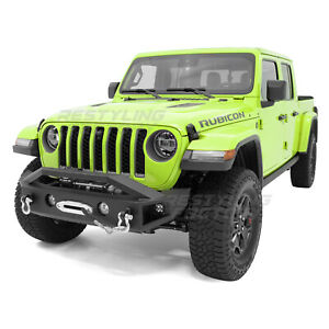 Falcon I Front Bumper 21 Led Mount Winch Plate Fit For 20 21 Jeep Gladiator Jt