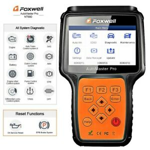 Foxwell Nt680 For Jeep All Systems Obd2 Diagnostic Scanner Epb Oil Service Reset