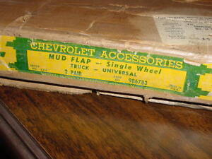 Rare Nos 47 48 49 50 51 52 53 Chevrolet 1 Ton Flatbed Truck Accessory Mud Flaps