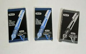 Lot Of Pilot Precise V7 0 7mm Fine Ink Rolling Ball Pen 21 Blue And 11 Black Pen