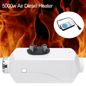 12v 5kw Diesel Fuel Air Heater Lcd Car Heater Fuel Tank Quiet remote Control