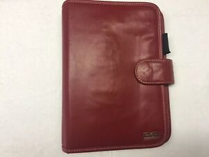 Day One Franklin Covey Red Organizer planner 7 Ring 10 X 7 Zipper Pocket