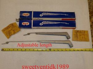 2 Nos anco Wiper Arms satin Stainless adjustable 14 19 Inch