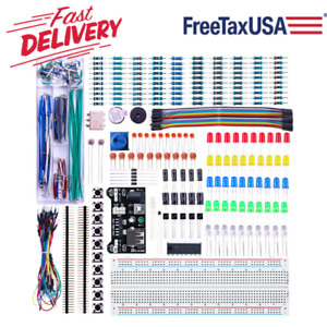 Electronic Breadboard Kit With Power Supply Module 300pcs Components For Arduino