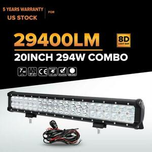 20 294w Cree Led Light Bar Spot Flood Work Lamp Offroad Truck Driving Boat 22