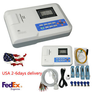 Ecg ekg Machine Portable 1 Channel Electrocardiograph Interpretation 12 Lead Fda