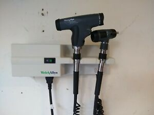 Welch Allyn 767 3 5v Panoptic Ophthalmoscope Otoscope Wall Trans Diagnostic Set