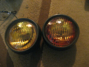 Grote Model 6493 Amber Police Municipal Warning Lights 9c1 P71 Fire Security Roa