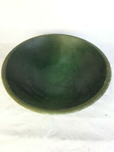 Made In Vermont Wooden Bowl Large 11 Green Salad Bread Hand Made Rustic
