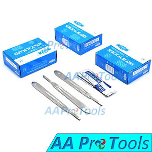 300 Surgical Sterile Scalpel Blades 22 with 3 Free Scalpel Handle 4