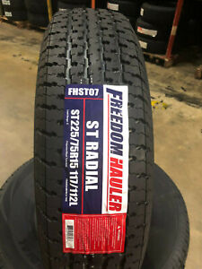 2 New St225 75r15 Freedom Hauler Trailer Tires 10 Ply E 225 75 15 St 2257515 St
